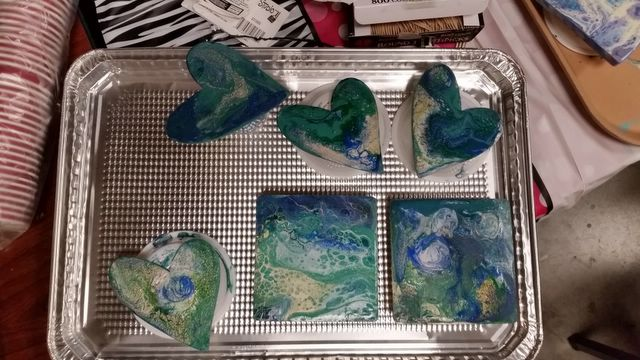 First Pour tray drying image