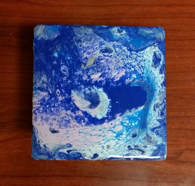 First Pour 4x4 wood block image
